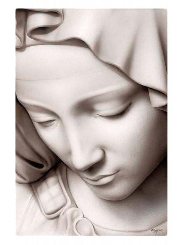 Inspired by Michelangelo's Pieta; Madonna Art Print from Black Market Art Company