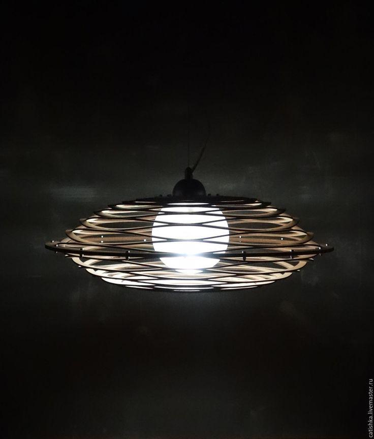 Купить Принцип Авоськи. Подвесной светильник из фанеры. LightsWood - бежевый, светильник в столовую