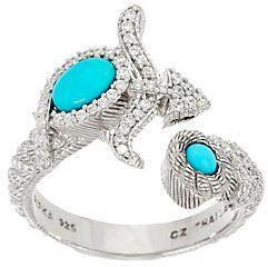 Judith Ripka Sterling Silver Gemstone & Diamonique Zodiac Ring