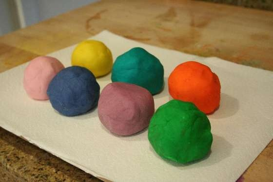Homemade playdough- just tried this recipe and worked great!