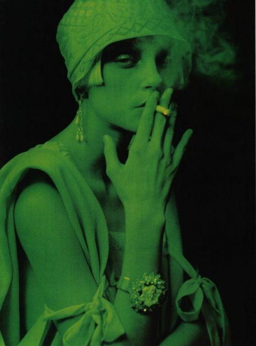 20s, cloche, dark, fashion, flapper, green