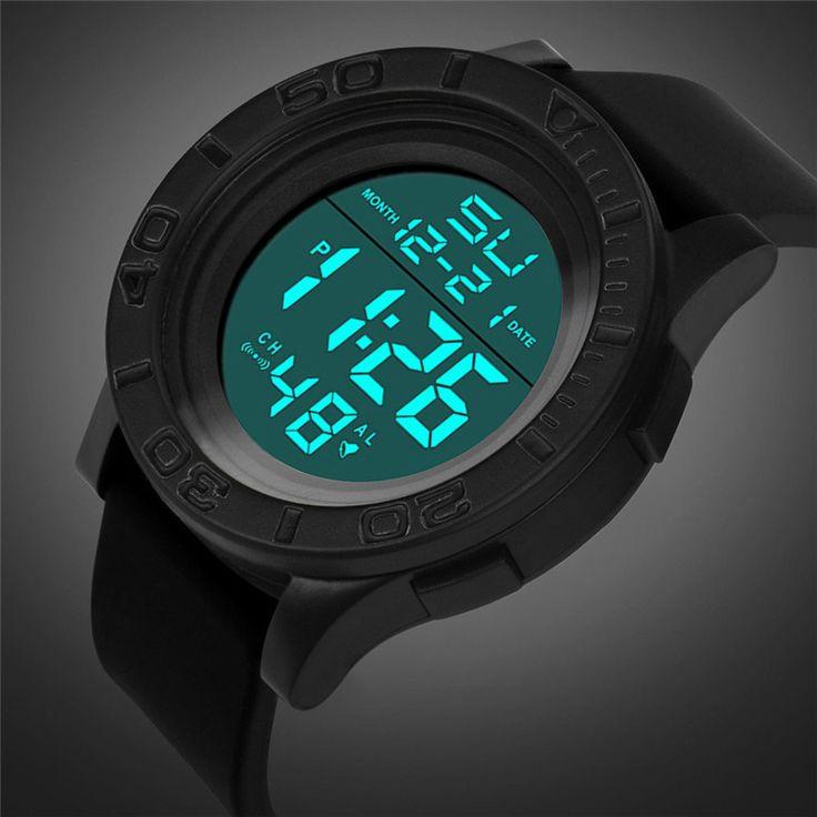 2017 NEW Fashion Men's LED Digital Date Countdown Timer Sport Quartz Wrist Watch Z628 #Affiliate