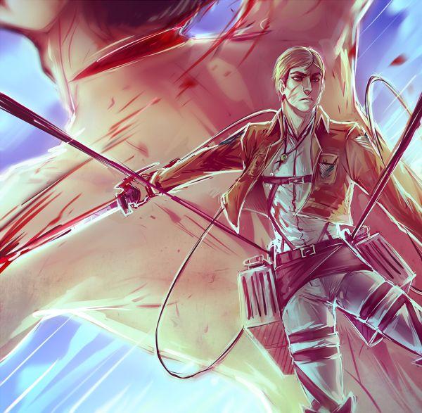 Commander by moni158.deviantart.com on @deviantART  Erwin Smith Shingeki no Kyojin Attack on Titan SnK AoT