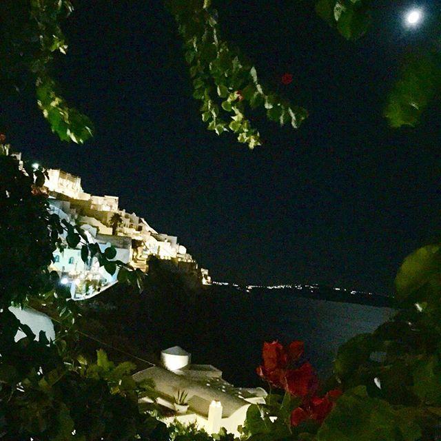 The nighttime view! #Santorini Photo credits: @ioannhss