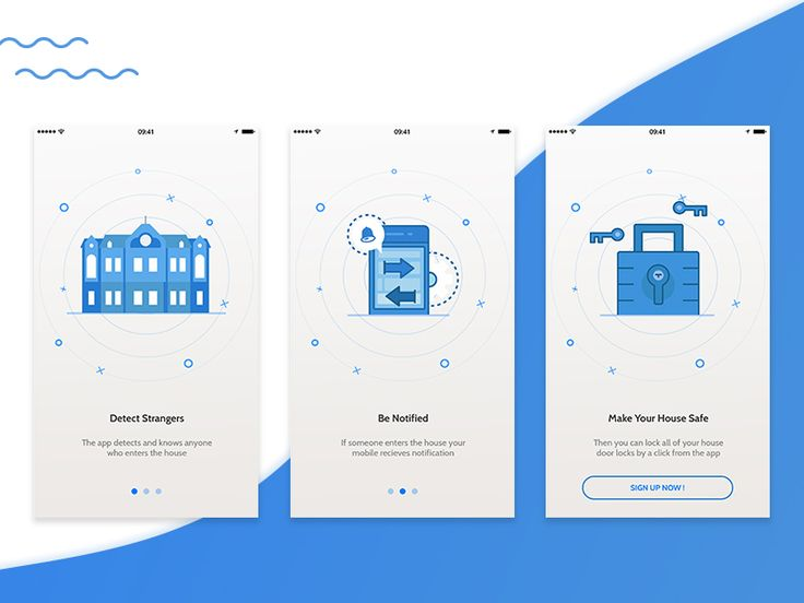 Onboarding Screens For IOT Security App by Mohamed Atwa