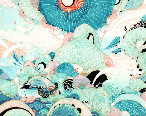Giclee Fine Art Print  Season  11x14  Print SALE  Buy 2 by yellena