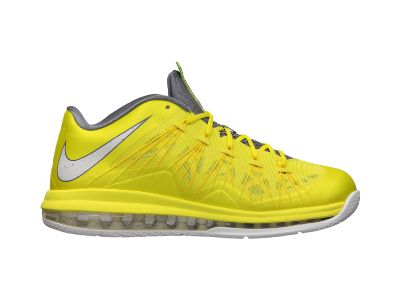 The Nike Air Max LeBron X Low Sonic Yellow is on sale now at Nike Store.  Learn more about the LeBron X Low Sonic Yellow at Nice Kicks.