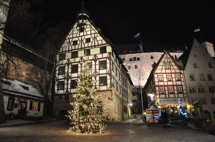 Christmas in Nuremberg Germany | Half-Timbered Construction in Nuremberg, Below the Castle