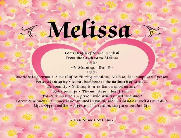 Melissa Name Tattoo Designs