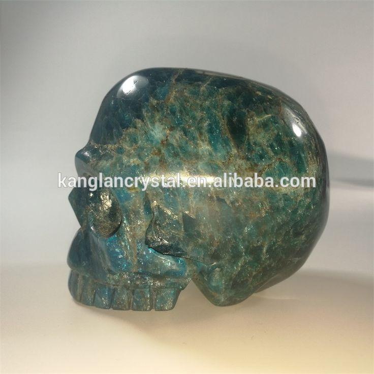 Small size natural apatite stone skull quartz crystal skulls for sale