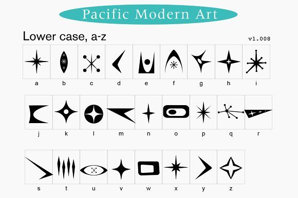 Mid Century Modern Ornaments Font Mid Century Modern Patterns Mid Century Art Mid Century Modern Art