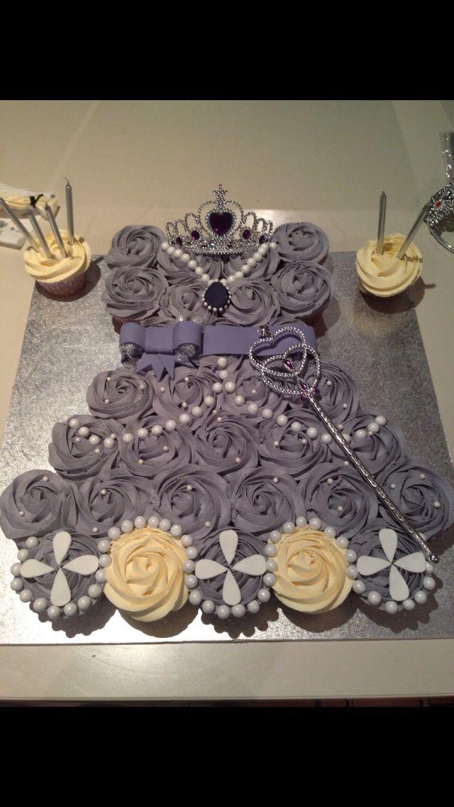 Sofia the first cupcake cake