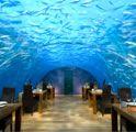 Ithaa Undersea Restaurant at Conrad Maldives Rangali Island.
