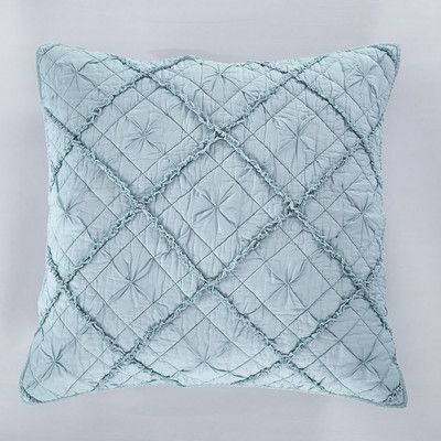 Calla Angel Diamond Applique Pillow Sham Size: Standard, Color: Pacific Blue