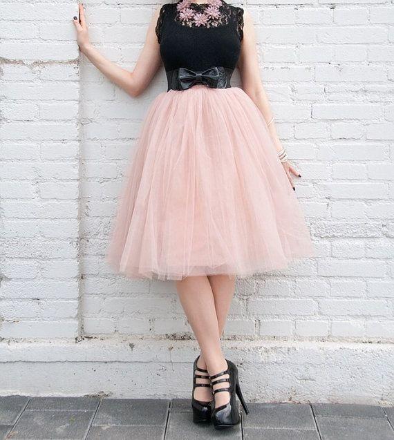 Light Pink Tulle Skirt by HelloMissChic on Etsy
