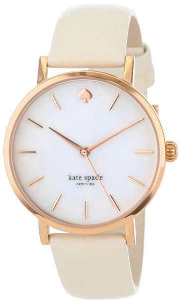 Kate Spade New York Women's 1YRU0012 Classic Rose Metro White Strap Watch: Watches: Amazon.com