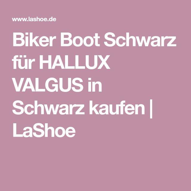 Biker Boot Schwarz für HALLUX VALGUS in Schwarz kaufen | LaShoe