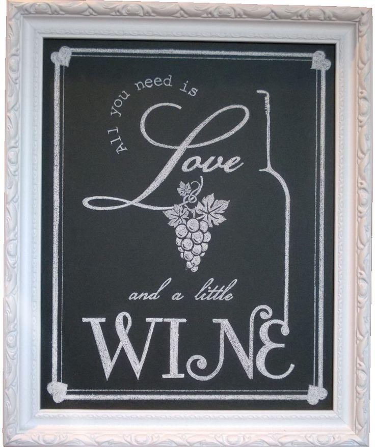 105 best our wedding chalk art images on pinterest for Wine chalkboard art