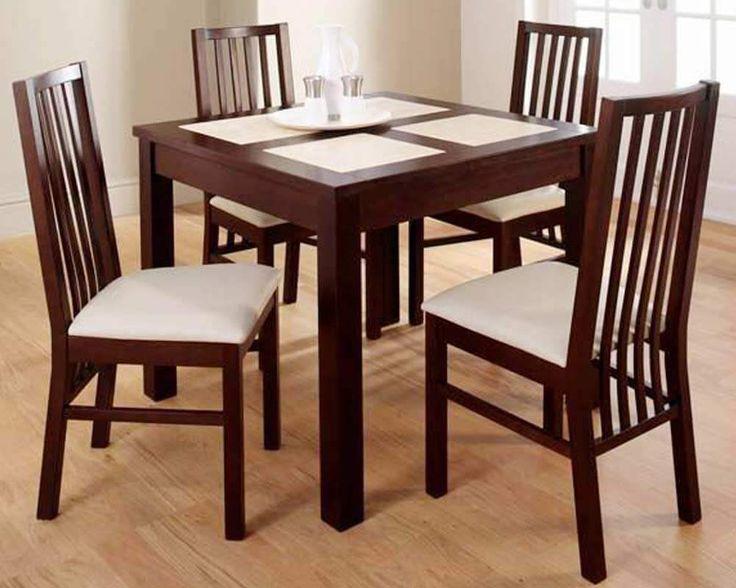 Set Meja Makan Modern Minimalis C-7RV terbuat dari material kayu jati dengan balutan busa dan kain jok memberikan kenyamanan saat diduduki.