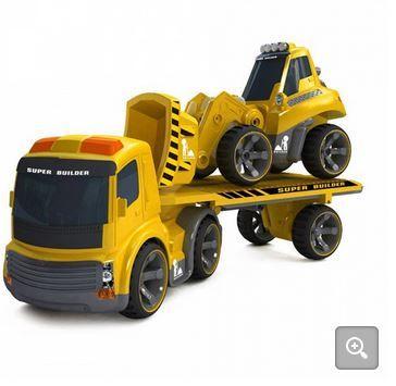 Infra távirányítós trailer és buldózer szett.  http://kisautok.hu/munkagepek/infra-t%C3%A1vir%C3%A1ny%C3%ADt%C3%B3s-trailer-%C3%A9s-buld%C3%B3zer-szett-reszletek