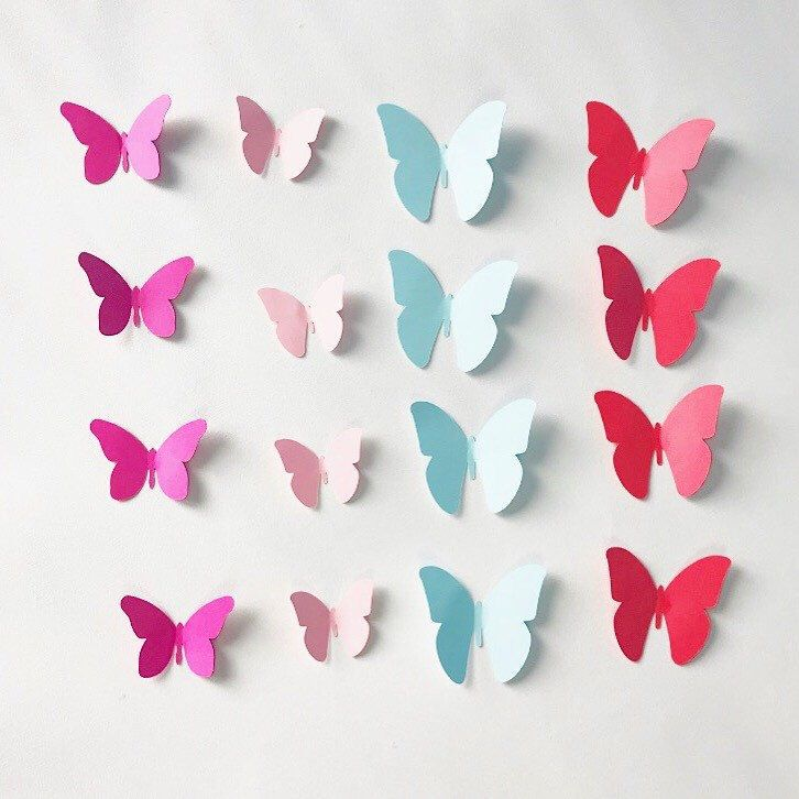 """These beautiful butterflies whisper """"Spring"""" in my ears! Bring some spring into your homes and events with these colourful paper butterflies at KomalWorks.etsy.com. We ship worldwide.  http://etsy.me/2oiLW7K #spring  #paperbutterfly #etsy #komalworks"""