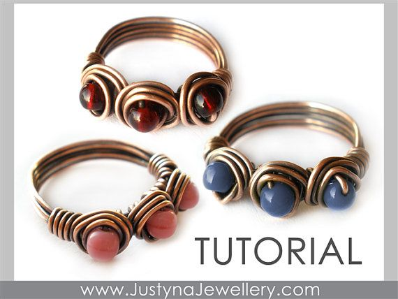 Wire Ring Tutorial Wire Jewelry Pattern by JustynaJewellery, $4.99
