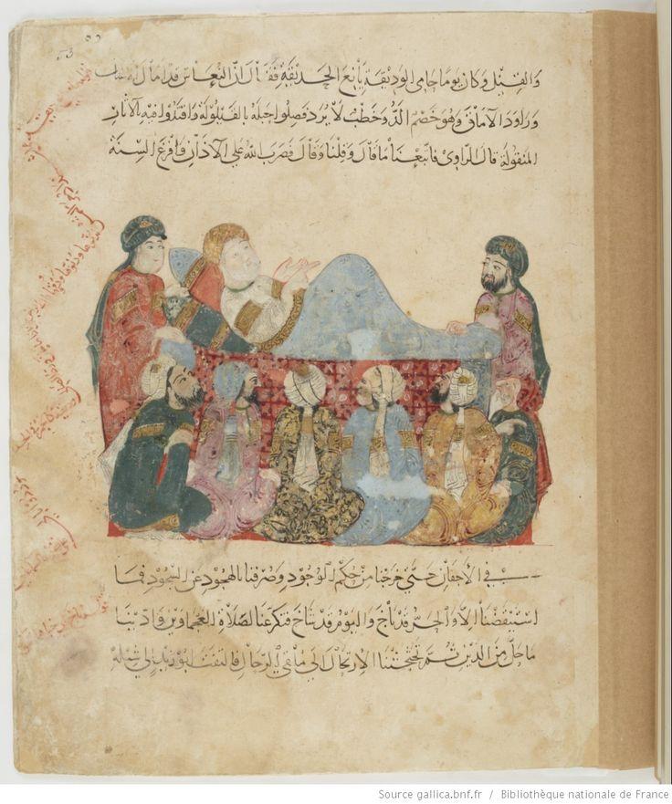 folio 53r, maqama 19. Abu Zayd sick