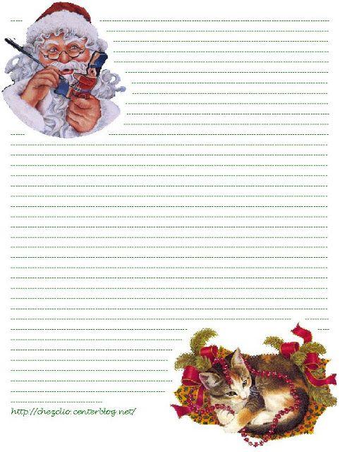 Top du Meilleur: Papier a lettre pour le Pere noel imprimer gratuit