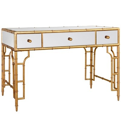 bungalow 5 collette vanity desk gold pretty please
