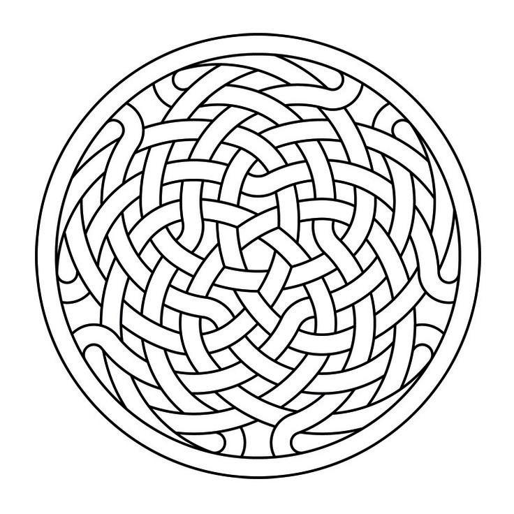 Celtic Knot Work Rosette 8 AutoCAD PatternsAutocadColoring BookColouringCeltic