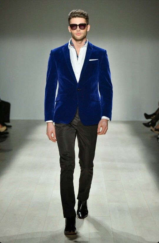 Image result for blue VELVET blazer