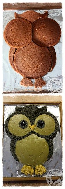 How to Make a Cute Baby Owl Cake