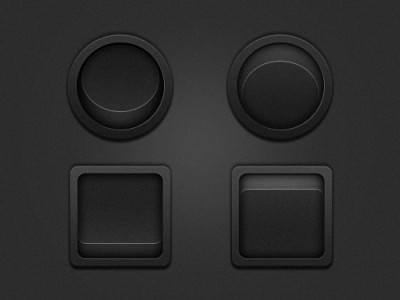 UI Round and square switch button in 2 states