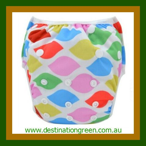 Swim Nappy - colourful NEW, $16.00 one, size fits most, fully adjustable #reusableswimnappy #swimnappy, #swimmingnappy #clothswimnappy