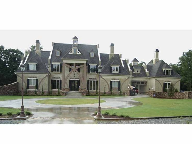 Chateau House Plan With 6079 Square Feet And 5 Bedrooms From Dream Home  Source | House Plan Code DHSW38031 | Dream House Ideas | Pinterest | Square  Feet, ...