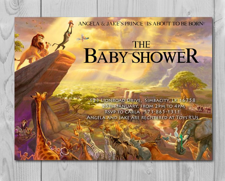 Lion King Baby Shower Invitation, Jungle Invitation, Disney Invite, Lion Invitation, Lion King, Simba, Rafiki by Printadorable on Etsy