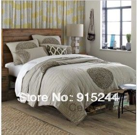 White Gray Blue Red Bedspread Cotton Quilting Three /Five piece set Patchwork Quilts Bedcover summer cool King Bedsheet Cushion US $105.80 - 135.80