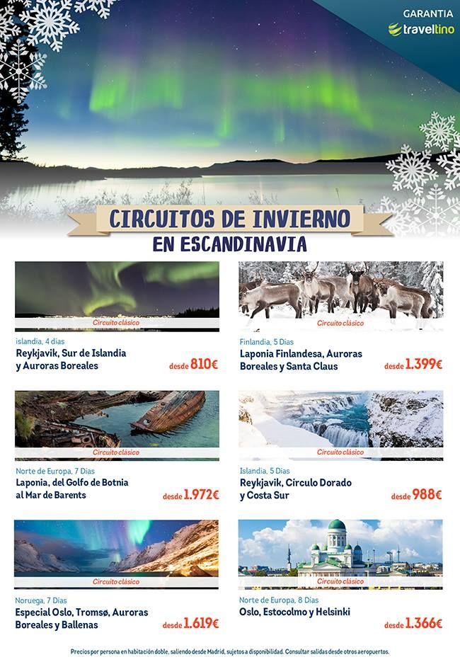 Nunca tuviste tan fácil conocer Laponia y Papá Noel, ver auroras boreales, descubrir las capitales escandinavas o alucinar en el circulo dorado... ¿Te apuntas?