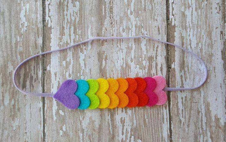 READY TO SHIP,Rainbow heart headband, Rainbow baby headband , heart headband, Baby - toddler- girls headband,baby headband,felt headband by eliinik on Etsy https://www.etsy.com/listing/466327977/ready-to-shiprainbow-heart-headband