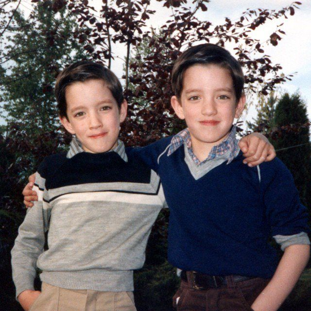 """Pin for Later: These Throwback Photos of HGTV Hosts Will Have You Saying, """"OMG"""" Jonathan and Drew Scott Jonathan and Drew Scott of the Property Brothers were clearly camera-friendly from a young age!"""