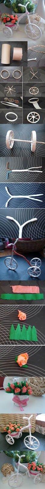 Adoro Artesanato: Bicicletinha linda