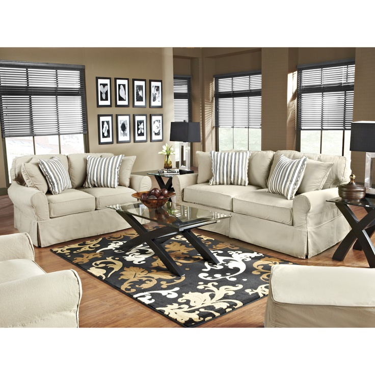 natural denim living room set sofa loveseat and chair bernie and