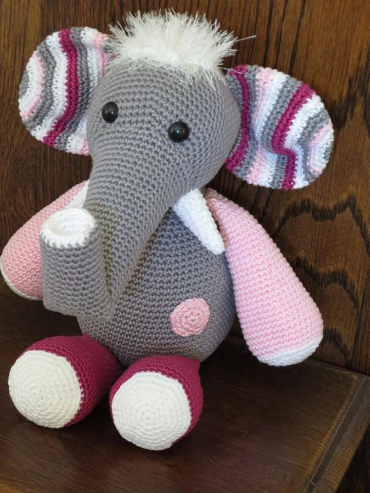 Elephant Teddy Knitting Pattern : 70 best Stip & Haak Olifant Otto images on Pinterest ...
