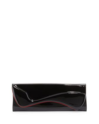 Pigalle+Patent+Clutch+Bag,+Black+by+Christian+Louboutin+at+Neiman+Marcus.