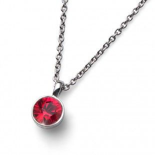 Oliver Weber Women red pendant necklace uno with Swarovski Crystals