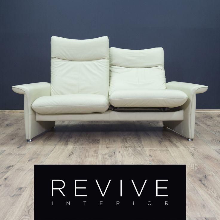 Laauser Designer Leder Sofa Creme Weiß Zweisitzer Funktion ...