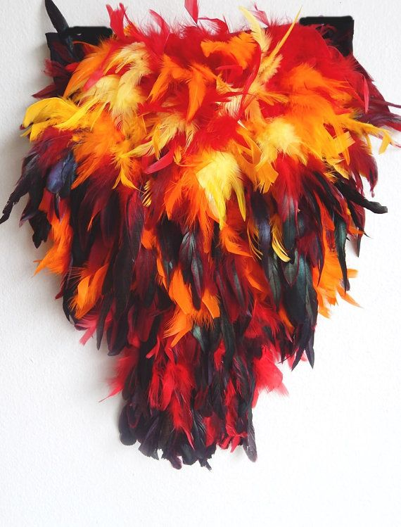 FEUER Phoenix Feder exotischen FEDERN treiben von sajeeladesign