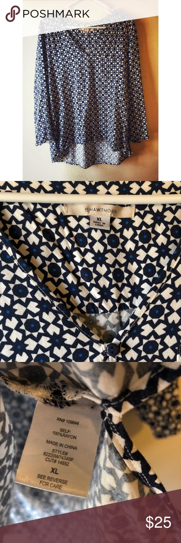 41Hawthorn Blue and White Blouse Perfect condition 41Hawthorn Tops Blouses