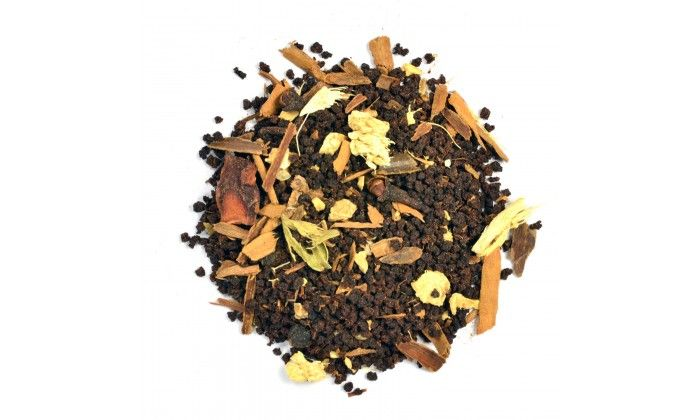 Cochin Masala Chai: Full bodied loose leaf tea enhances South Indian masala spices. The finish has cardamom notes peeking out from lively ginger. Superb with milk and sugar. Infusion: Bright and coppery with golden highlights.