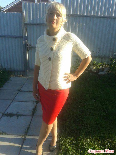Шикарный кардиган с коротким рукавом - Вязание - Страна Мам